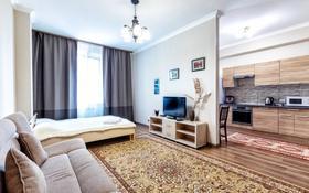 1-комнатная квартира, 45 м², 1/9 этаж посуточно, ул. Абикен Бектуров 1 — ул. Сыганак за 10 000 〒 в Нур-Султане (Астана), Есиль р-н