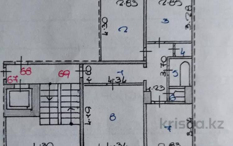 3-комнатная квартира, 65 м², 5/9 этаж, Гапеева 33 за 17 млн 〒 в Караганде, Казыбек би р-н