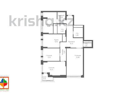 4-комнатная квартира, 116.34 м², Қабанбай батыр 48/5 за ~ 37.3 млн 〒 в Нур-Султане (Астана), Есиль р-н