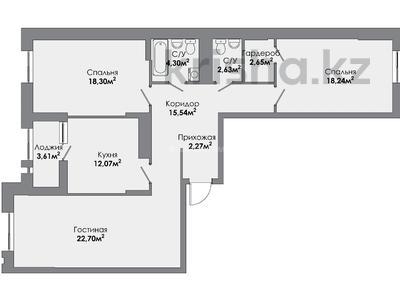 3-комнатная квартира, 104.41 м², 7 этаж, Манглик Ел 56 за ~ 35.9 млн 〒 в Нур-Султане (Астана), Есиль р-н — фото 5