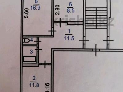 2-комнатная квартира, 54 м², 2/5 этаж, 8 кмр 16 за 11.3 млн 〒 в Костанае — фото 12