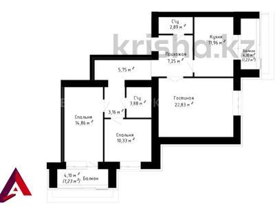 3-комнатная квартира, 89.1 м², 2/7 этаж, проспект Улы Дала за ~ 30.3 млн 〒 в Нур-Султане (Астана), Есиль р-н — фото 4