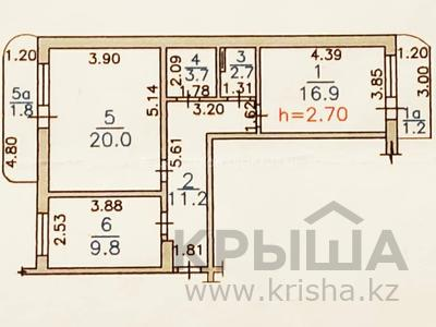 2-комнатная квартира, 68 м², 1/9 этаж, мкр Кулагер, Мкр Кулагер за 20 млн 〒 в Алматы, Жетысуский р-н — фото 9