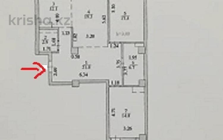 3-комнатная квартира, 99 м², Кабанбай-батыра 4/2 — проспект Кабанбай Батыра за 28 млн 〒 в Нур-Султане (Астана), Есиль р-н