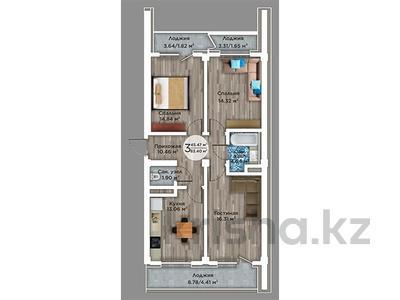 3-комнатная квартира, 83.4 м², мкр Атырау, Мкр. Атырау 158/9 за ~ 24.6 млн 〒 в Алматы, Медеуский р-н