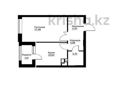 1-комнатная квартира, 41.21 м², 10/16 этаж, Мухамедханова — 306 за ~ 14.6 млн 〒 в Нур-Султане (Астана), Есиль р-н — фото 16