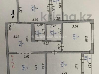 3-комнатная квартира, 90 м², 12/13 этаж, Алии Молдагуловой 27А — проспект Женис за 24.5 млн 〒 в Нур-Султане (Астана), Сарыарка р-н — фото 2