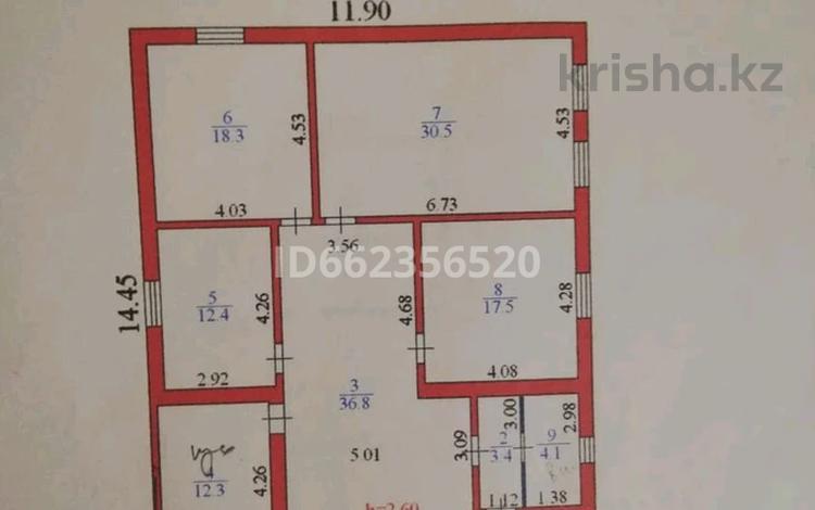 6-комнатный дом, 137 м², 6 сот., Шапагат 35 за 16 млн 〒 в Баскудуке