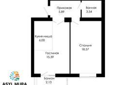 2-комнатная квартира, 51.52 м², 8/9 этаж, Мухамедханова — 306 за ~ 18.1 млн 〒 в Нур-Султане (Астана), Есиль р-н