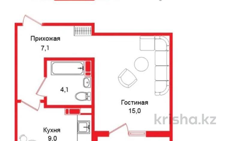 1-комнатная квартира, 37 м², 3/12 этаж, мкр Акбулак, 1-я улица — Бауыржана Момышулы за 15 млн 〒 в Алматы, Алатауский р-н