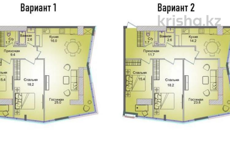 3-комнатная квартира, 93.4 м², 10/13 этаж, Шевченко — Шагабутдинова за ~ 45.9 млн 〒 в Алматы, Алмалинский р-н
