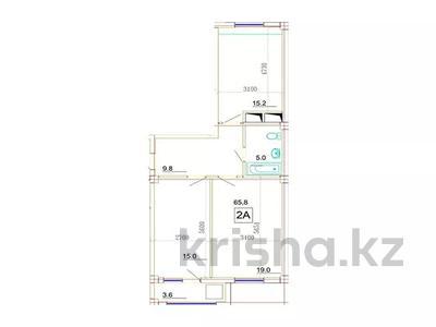 2-комнатная квартира, 65.8 м², 17-й мкр, 18 мкрн за ~ 11.2 млн 〒 в Актау, 17-й мкр — фото 2