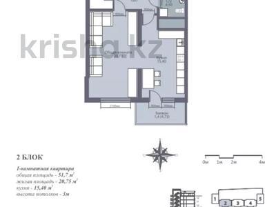 1-комнатная квартира, 51.7 м², 3/12 этаж, Навои 324 за 22.8 млн 〒 в Алматы, Бостандыкский р-н — фото 15