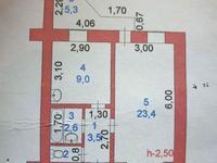 1-комнатная квартира, 41 м², 8/9 этаж