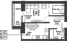 1-комнатная квартира, 39.3 м², 9/10 этаж, Алихана Бокейханова — 25 за 13.5 млн 〒 в Нур-Султане (Астана), Есиль р-н