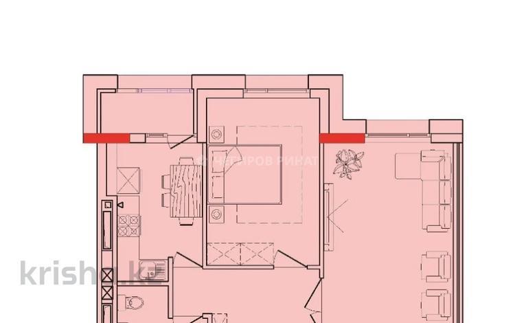 2-комнатная квартира, 61.55 м², 5/12 этаж, Туран — Улы Дала за ~ 18.8 млн 〒 в Нур-Султане (Астана), Есиль р-н