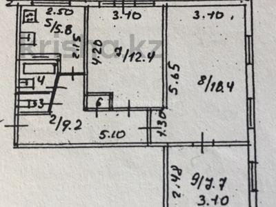 3-комнатная квартира, 57 м², 3/4 этаж, мкр Коктем-1, Тимирязева — Набережная за 26 млн 〒 в Алматы, Бостандыкский р-н