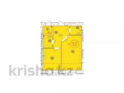 1-комнатная квартира, 40.79 м², 16-й мкр , 16 мкр за ~ 4.3 млн 〒 в Актау, 16-й мкр  — фото 2