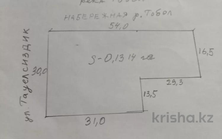 Участок 15 соток, Набережная 44/3 — Тауелсиздик за 60 млн 〒 в Костанае