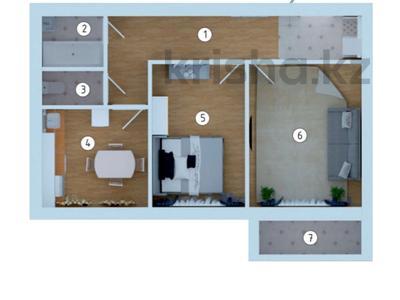 2-комнатная квартира, 53 м², 3/5 этаж, 3-й мкр за 6.3 млн 〒 в Актау, 3-й мкр — фото 7