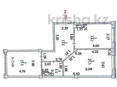2-комнатная квартира, 67.8 м², Мангилик Ел 17 за ~ 20 млн 〒 в Нур-Султане (Астана) — фото 2
