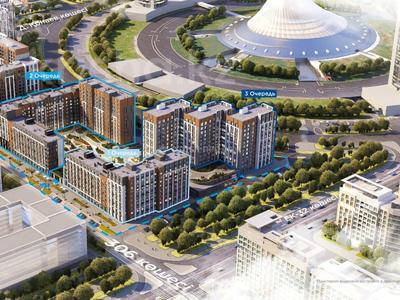2-комнатная квартира, 72.58 м², 306 — ЕК-32 за ~ 27.5 млн 〒 в Нур-Султане (Астана), Есиль р-н — фото 12