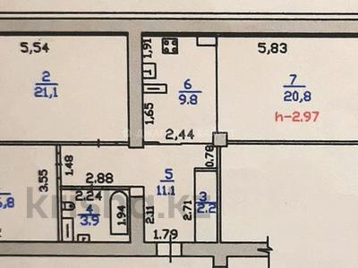 3-комнатная квартира, 90 м², 6/15 этаж, Абая 150/230 — Тургута Озала за 48 млн 〒 в Алматы, Бостандыкский р-н
