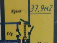 1-комнатная квартира, 37.9 м², 1/9 этаж, Байтурсынова 39/1 — Жумабаева за 9.2 млн 〒 в Нур-Султане (Астане), Алматы р-н
