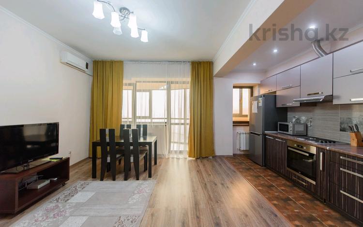 2-комнатная квартира, 70 м², 7/14 этаж посуточно, Айманова 140 — Мынбаева за 16 000 〒 в Алматы