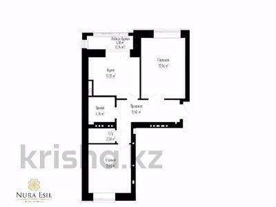 2-комнатная квартира, 66.29 м², 3 этаж, проспект Улы Дала 36/1 за ~ 25.2 млн 〒 в Нур-Султане (Астана) — фото 4