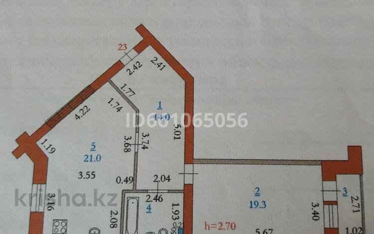1-комнатная квартира, 60 м², 2/5 этаж, Батыс-2 20/в за 14 млн 〒 в Актобе, мкр. Батыс-2