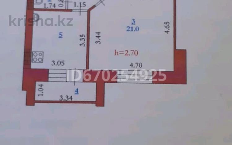 1-комнатная квартира, 46.3 м², 1/9 этаж, Нур Актобе 38 — 2 мкр за 10 млн 〒