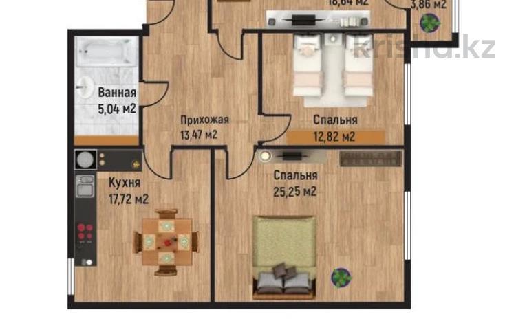 3-комнатная квартира, 98.66 м², 10/10 этаж, мкр Нурсая, Абулхайыр хана за ~ 23.9 млн 〒 в Атырау, мкр Нурсая