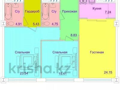 3-комнатная квартира, 100 м², мкр Юбилейный, Омаровой — Достык за 33.5 млн 〒 в Алматы, Медеуский р-н — фото 3