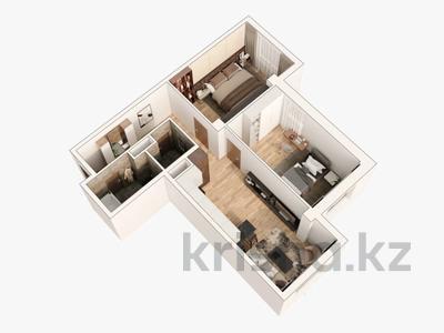 2-комнатная квартира, 74.8 м², 4/13 этаж, Досмухамедова 79 — А 98 за 41.1 млн 〒 в Алматы