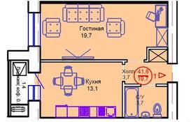1-комнатная квартира, 41.6 м², 2/12 этаж, Тауелсиздик 34/8 за 11 млн 〒 в Нур-Султане (Астана), Алматы р-н