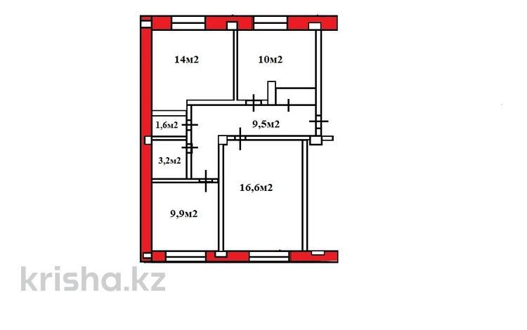 3-комнатная квартира, 66.1 м², 1/5 этаж, мкр №10, Шаляпина за 24.4 млн 〒 в Алматы, Ауэзовский р-н