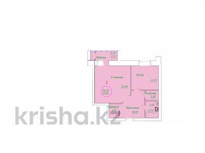 1-комнатная квартира, 54.14 м², 2/5 этаж, Байтурсынова 46/1 за ~ 11.9 млн 〒 в Нур-Султане (Астана), Алматы р-н