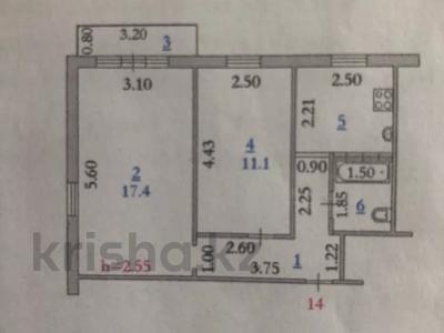 2-комнатная квартира, 44 м², 4/5 этаж, Абулхаир хана 11 за 6.5 млн 〒 в Актобе