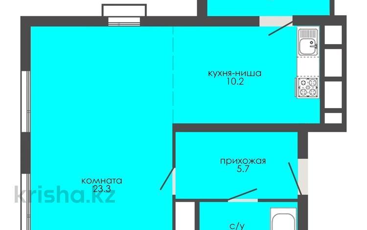 1-комнатная квартира, 42.7 м², 2/9 этаж, Е126 — Е127 за ~ 11.5 млн 〒 в Нур-Султане (Астана), Есиль р-н