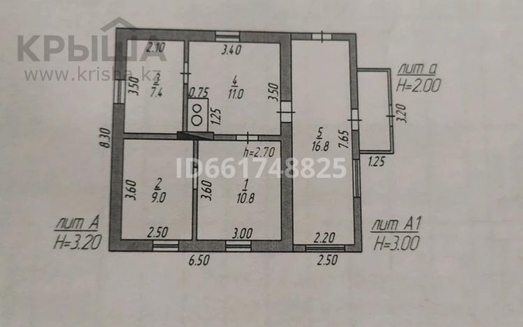 4-комнатный дом, 53.9 м², 6 сот., Ватутина 126 за 2.5 млн 〒 в Темиртау