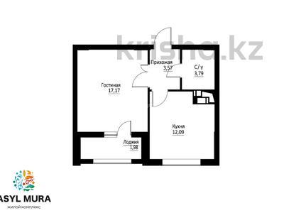 1-комнатная квартира, 39.24 м², 16 этаж, Мухамедханова — 306 за ~ 13.7 млн 〒 в Нур-Султане (Астана), Есиль р-н — фото 41