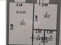 1-комнатная квартира, 36 м², 4/10 этаж