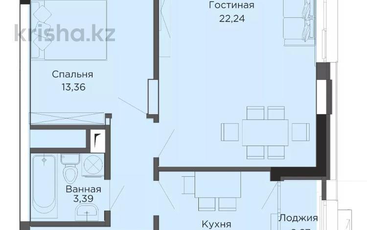 2-комнатная квартира, 57.46 м², 12/16 этаж, Е-356 6 за 18.9 млн 〒 в Нур-Султане (Астана), Есиль р-н