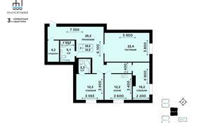 3-комнатная квартира, 99 м², 8/8 этаж, мкр Жети Казына, Сейфуллина 5В за ~ 30.1 млн 〒 в Атырау, мкр Жети Казына