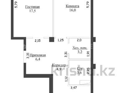 2-комнатная квартира, 62.5 м², 10/10 этаж, Ильяса Омарова 23 за ~ 19.7 млн 〒 в Нур-Султане (Астана), Есиль р-н — фото 12