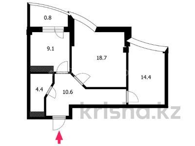 2-комнатная квартира, 58 м², 7/14 этаж, Сарайшык 5 за 24 млн 〒 в Нур-Султане (Астана), Есиль р-н — фото 25