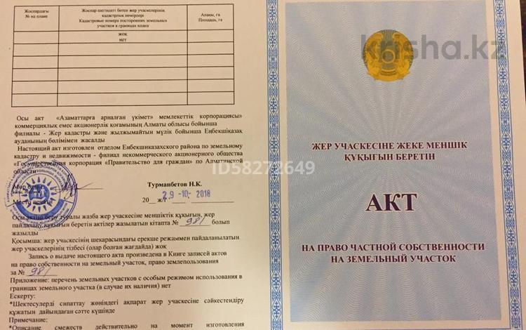 Дача с участком в 10 сот., Строительная 18 за 1.6 млн 〒 в Есик