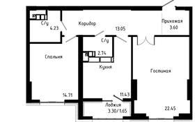 2-комнатная квартира, 73.5 м², 14/21 этаж, Варламова за 27.2 млн 〒 в Алматы, Алмалинский р-н