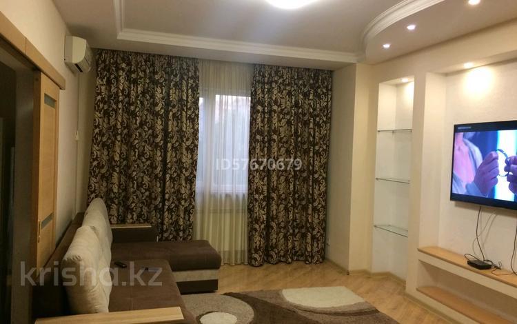 2-комнатная квартира, 75 м², 2/25 этаж посуточно, Каблукова 264 за 13 000 〒 в Алматы, Бостандыкский р-н